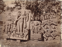 Sculptured slabs from Dulmi, Manbhum District